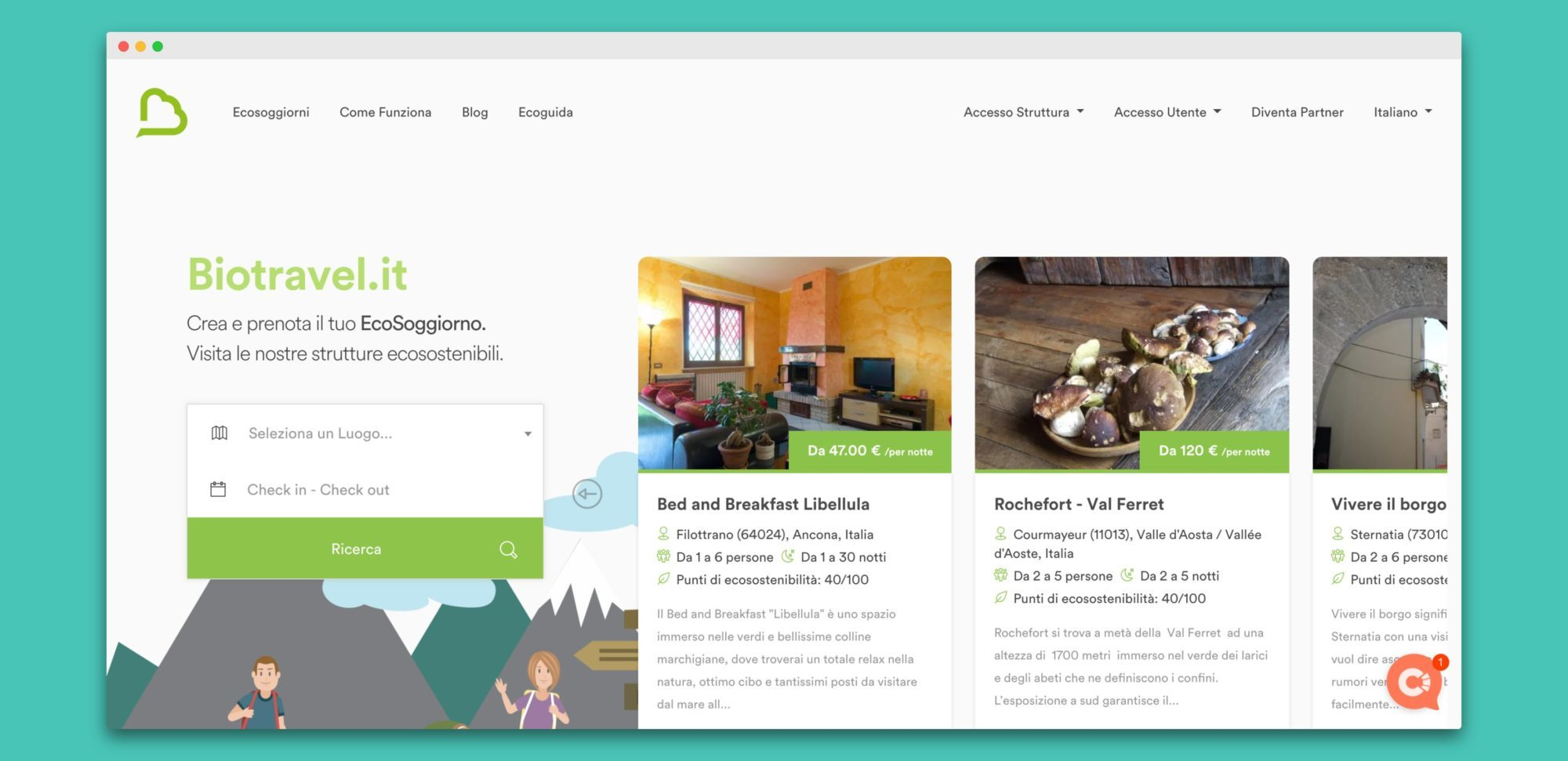 biotravel teroro agency piattaforma webapp 1 - Biotravel