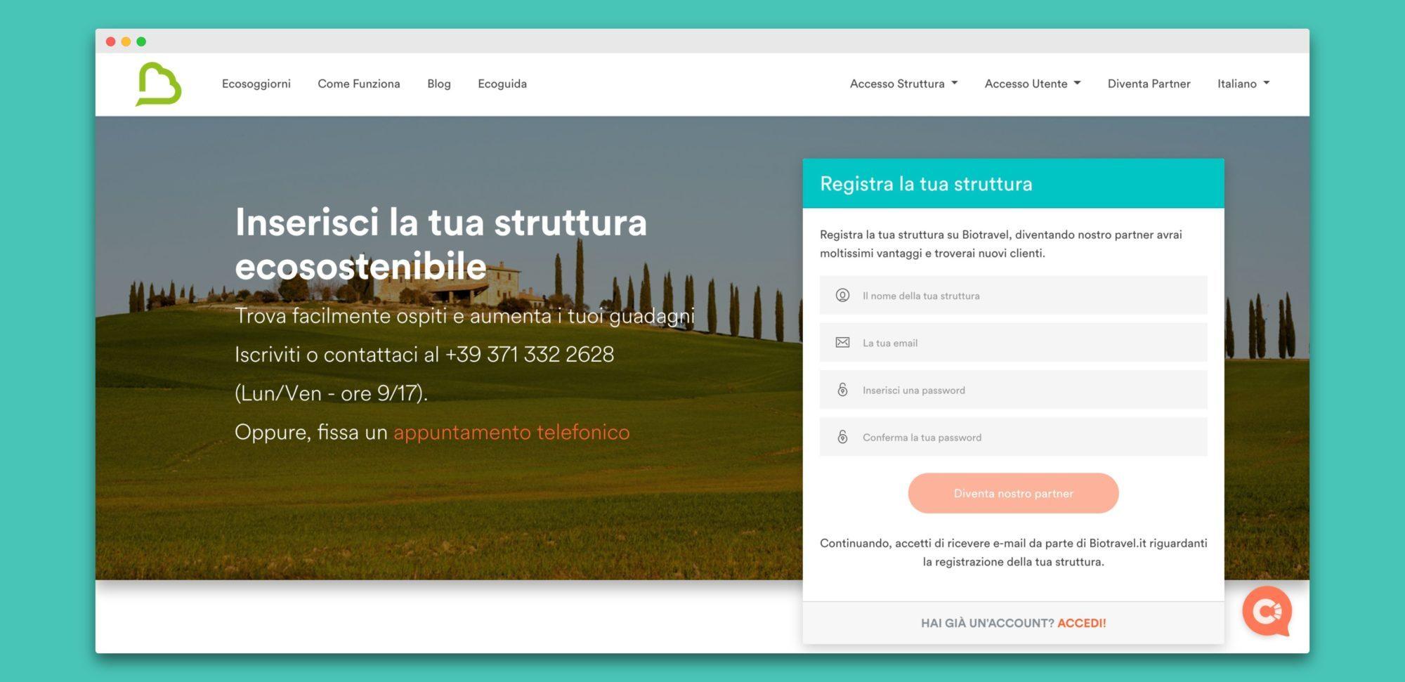 biotravel teroro agency piattaforma webapp 5 - Biotravel
