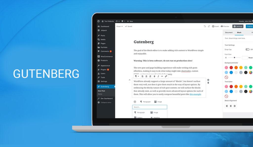 Gutenberg Banner 1024x595 - WordPress 5.0: cosa cambia con il nuovo editor Gutenberg?