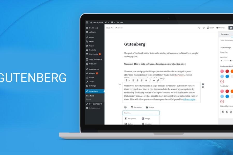 Gutenberg Banner 900x600 - WordPress 5.0: cosa cambia con il nuovo editor Gutenberg?