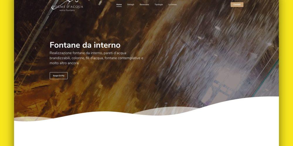 Fontane da Interno – Landing Page