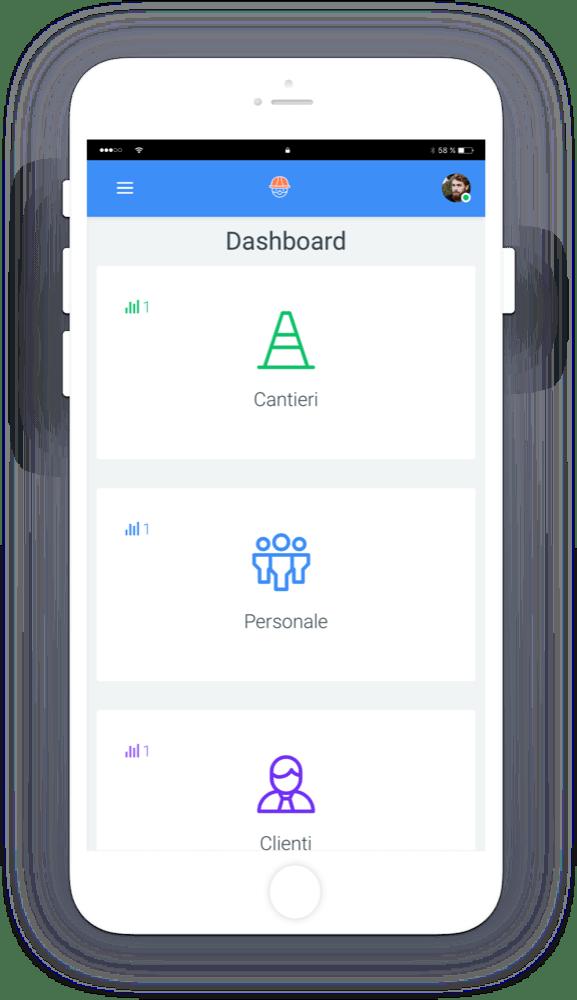 gcantieri mockup dashboard - Gcantieri - Gestionale Cantieri e Personale