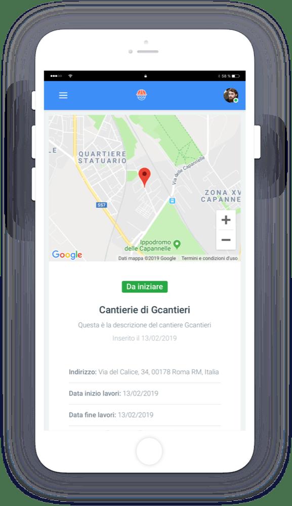 gcantieri mockup header dettagli cantiere - Gcantieri - Gestionale Cantieri e Personale