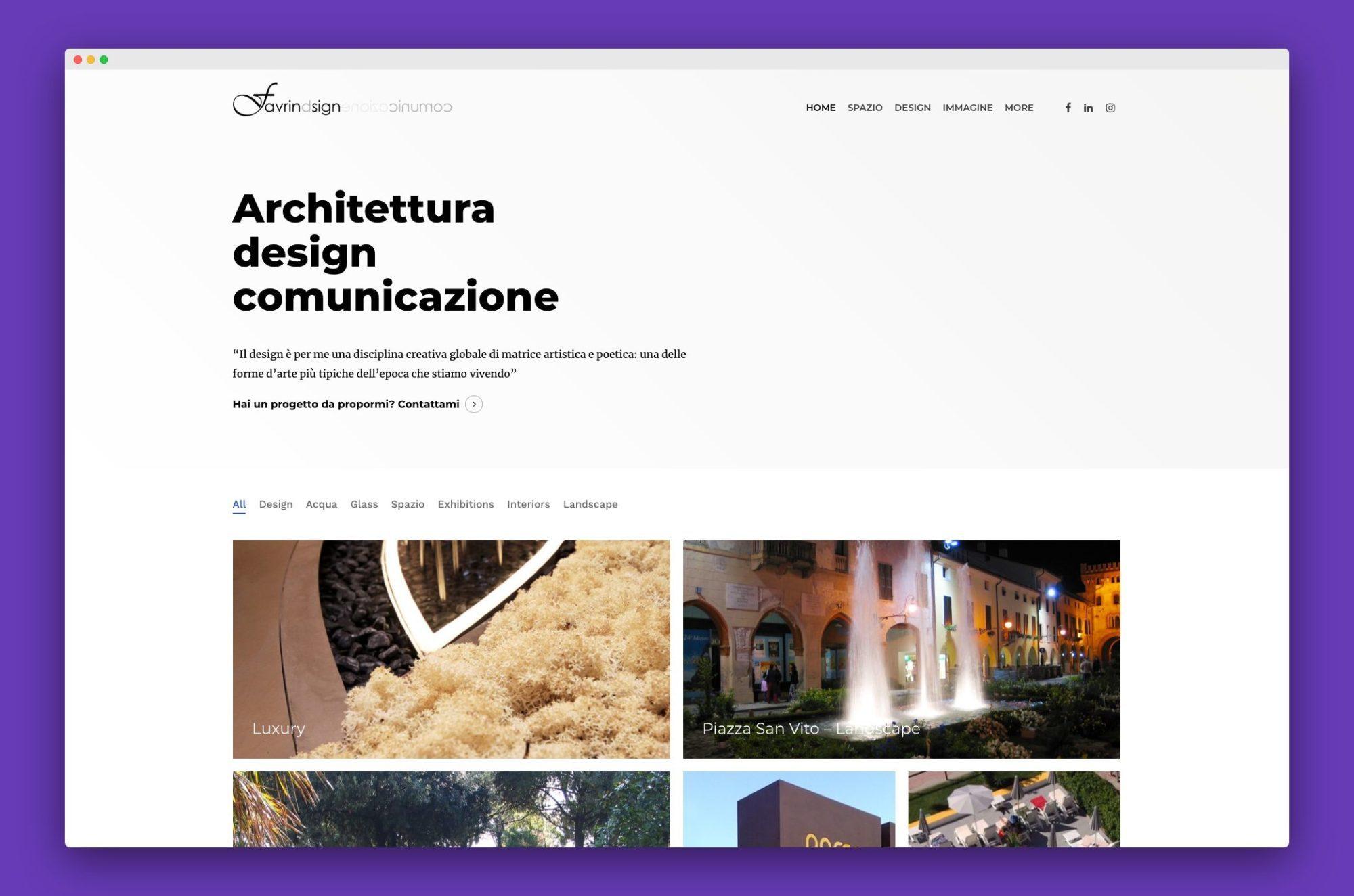 realizzazione sito internet architetto venezia 1 - Favrin Design - Architecture and Design