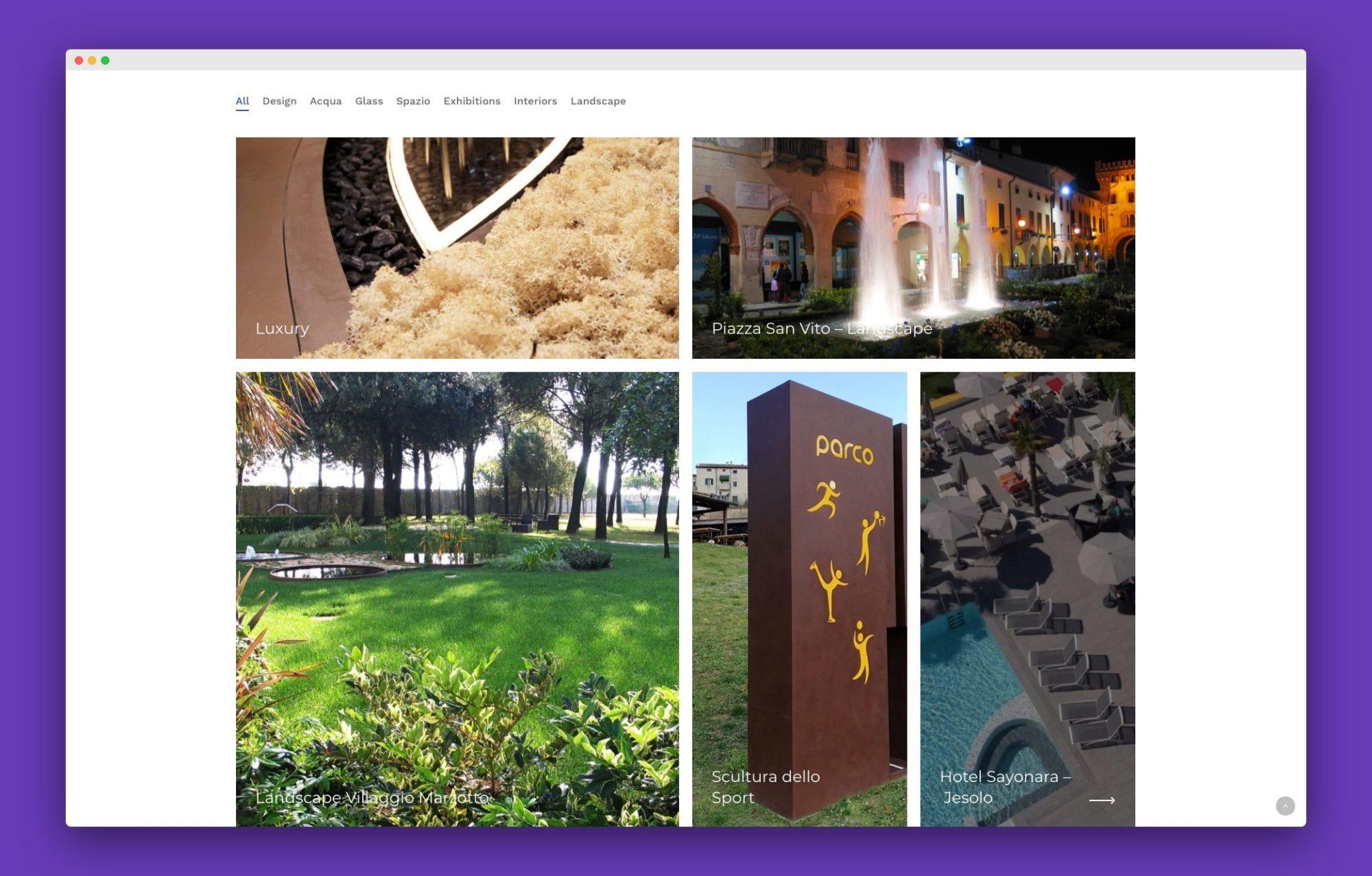 realizzazione sito internet architetto venezia 2 - Favrin Design - Architecture and Design