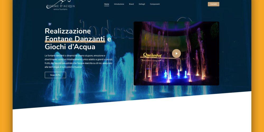 Fontane Danzanti – Landing Page